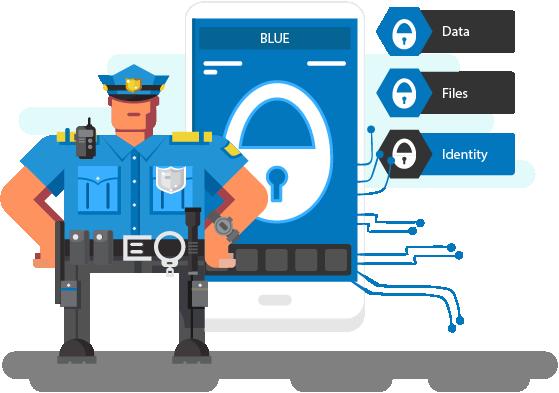 BLUE Security Scene